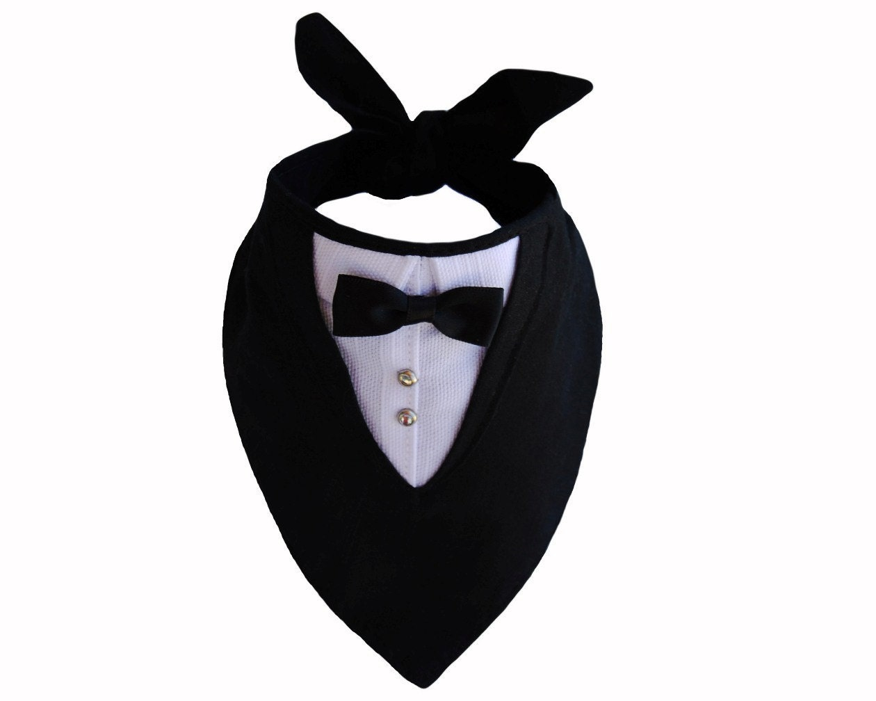 Medium Sized Tuxedo Bandana Dog Tux Pet Wedding
