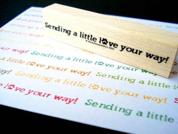 Sending a little love your way Rubber Stamp