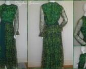 Womens ladies vintage 60s 70s MAXI DRESS boho Floaty Stunning