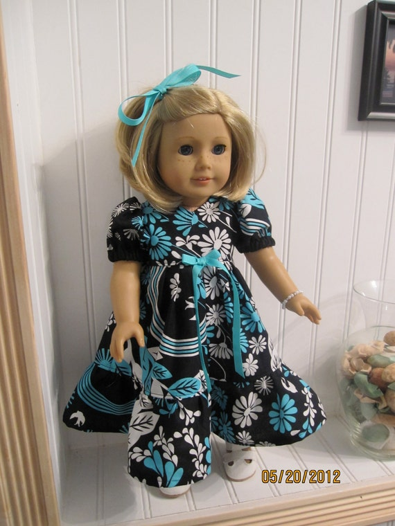 American Girl Doll Dress - Tropical Print Dress and Panties