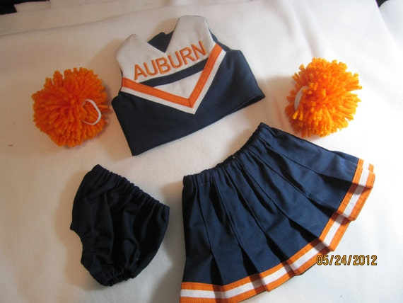 Pick Your Team or School - American Girl Doll or 18 inch doll Custom Design Cheerleading Outfits