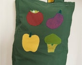 Green Organic Cotton Canvas Market Tote Bag