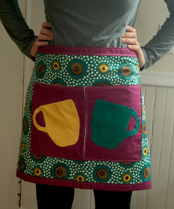 Cafe Half Apron with Pockets