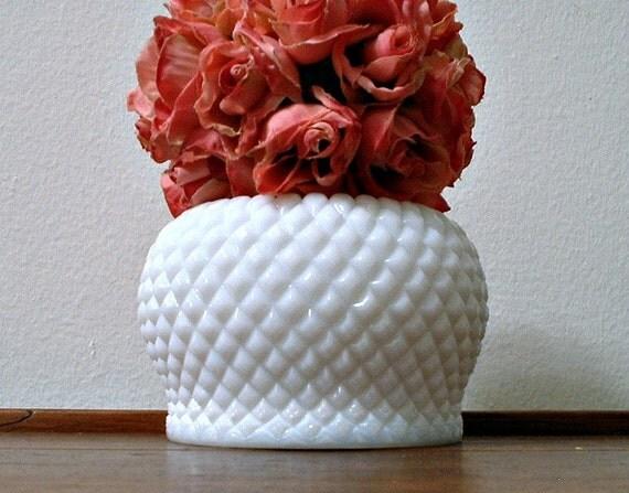 Westmoreland English Hobnail Milk Glass Vase Small Rose Bowl White