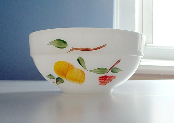 Fire King Bowl Gay Fad Fruits Vintage Fire-King  Mid Century