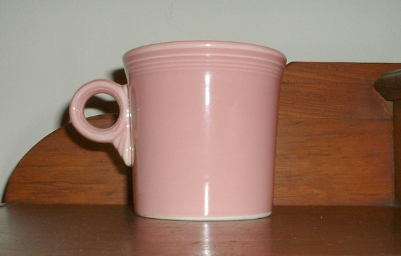 Fiesta Ware Rose Mug Fiesta Retired Homer Laughlin Cup