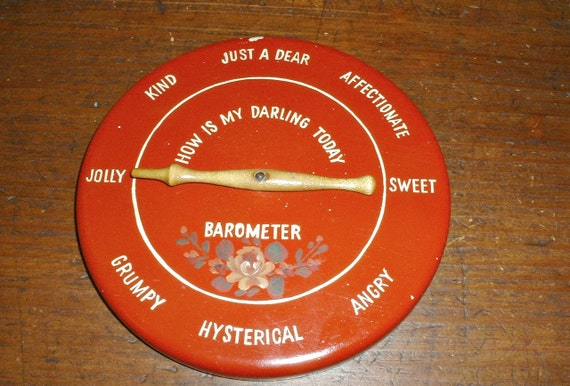 Vintage Mood Barometer How Is My Darling Today Wall Hanging Sign