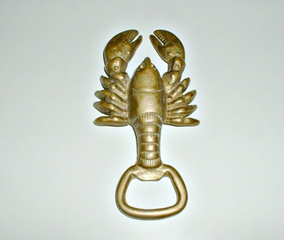 Vintage Lobster Bottle Opener Barware Decorative Fish
