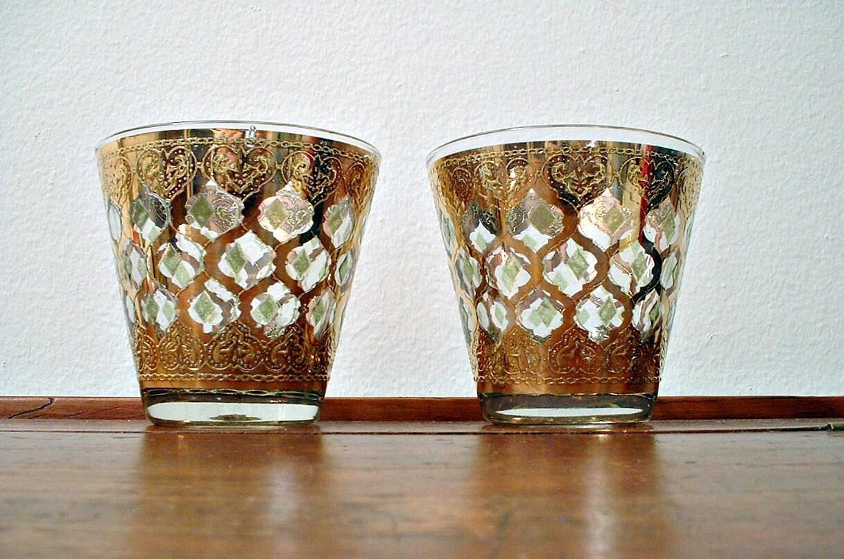 Vintage culver valencia rocks glasses old by classicmemories - Vintage valencia ...