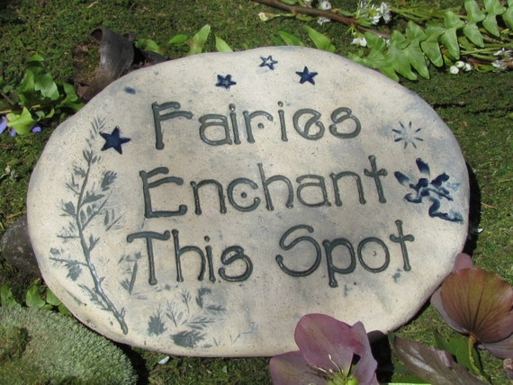 Fairy garden ART Victorian inspired outdooor decor stone sculpture