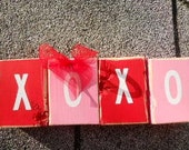 Valentine Word Blocks Xs and Os