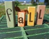 Fall Seasonal Mini Word Blocks