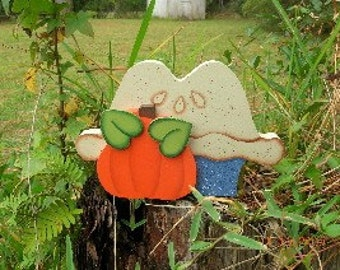 Thanksgiving Pumpkin Pie, Wood, Decorative Painting