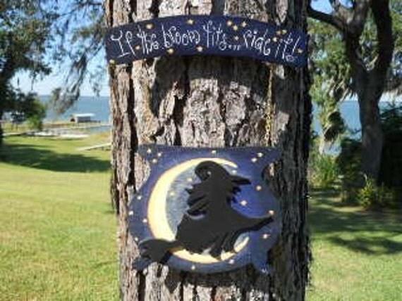 Halloween Door Banner....If the Broom Fits