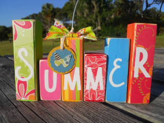 SUMMER Mini Photo Blocks