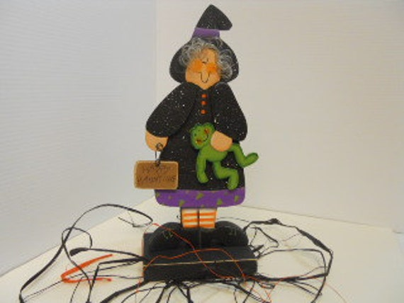 Halloween Witch with Frog