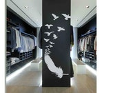 Feather with Birds- Wall Decal