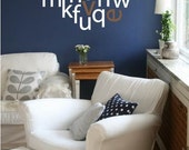 Letters Heart- Wall Decal