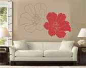 Two Flowers- Wall Decal