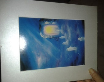 c1990 Ascension To The Light by Delmary Print