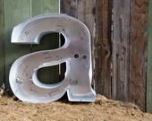 LARGE Vintage Sign Letter, Lowercase a, Sign Letter