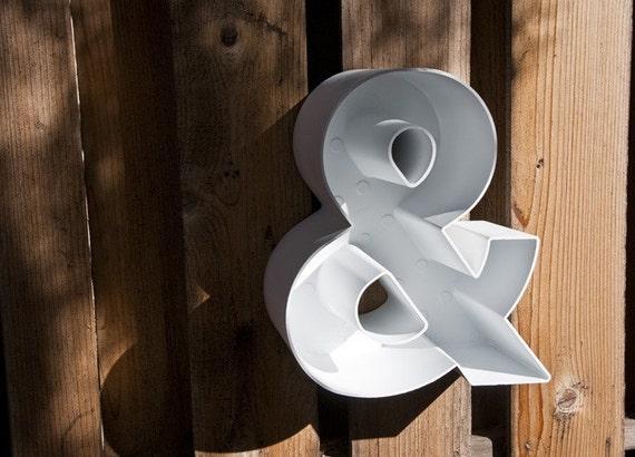 Plastic Ampersand Sign Letter