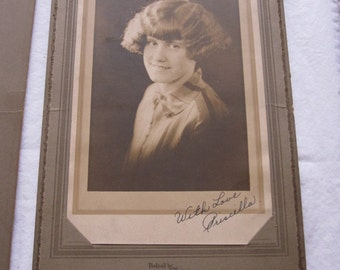1920s Woman Female Bobbed Hair Signed Photo Vantine Boston MA