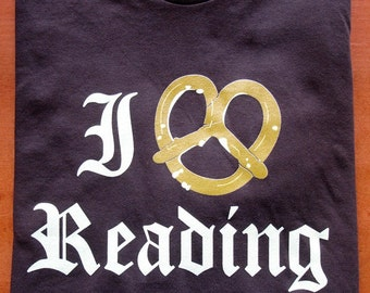I Pretzel Reading T-Shirt, American Apparel, XS, S, M, L and XL back in stock!