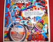 Vintage Warhol Bicycle-Tile Coaster Set
