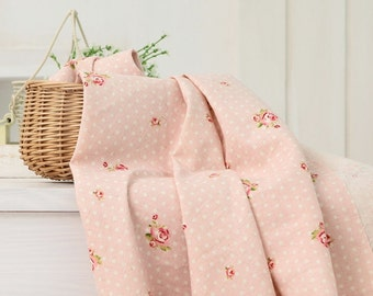 wide linen by the yard (width 56 inches) 34482-1 pink