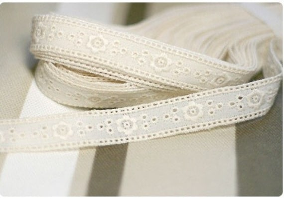 cotton eyelet lace 14yards (width 1.5cm) 11072