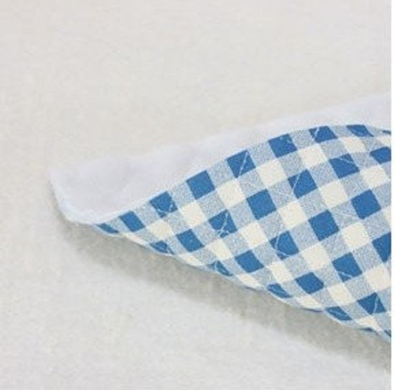 quilted 8mm check cotton 1yard (43 x 35 inches) 21962 blue