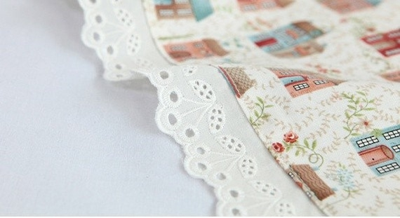 cherry eyelet  cotton lace 14yards (width 4.5cm) ivory 23136