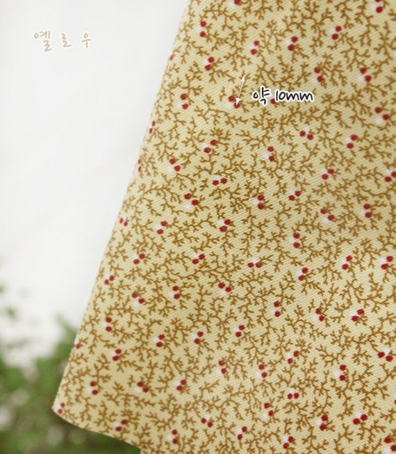 cotton by the yard (width 44 inches) 35238-1 beige