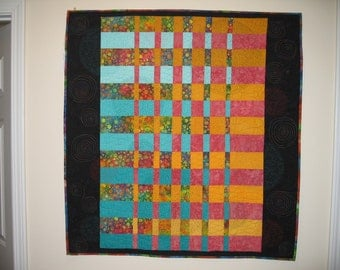 Hollywood Squares unique wall hanging quilt