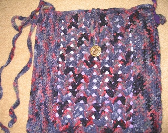 Purple Passion hand-crocheted purse