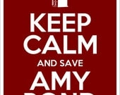 Keep Calm and Save Amy Pond DIY printable poster