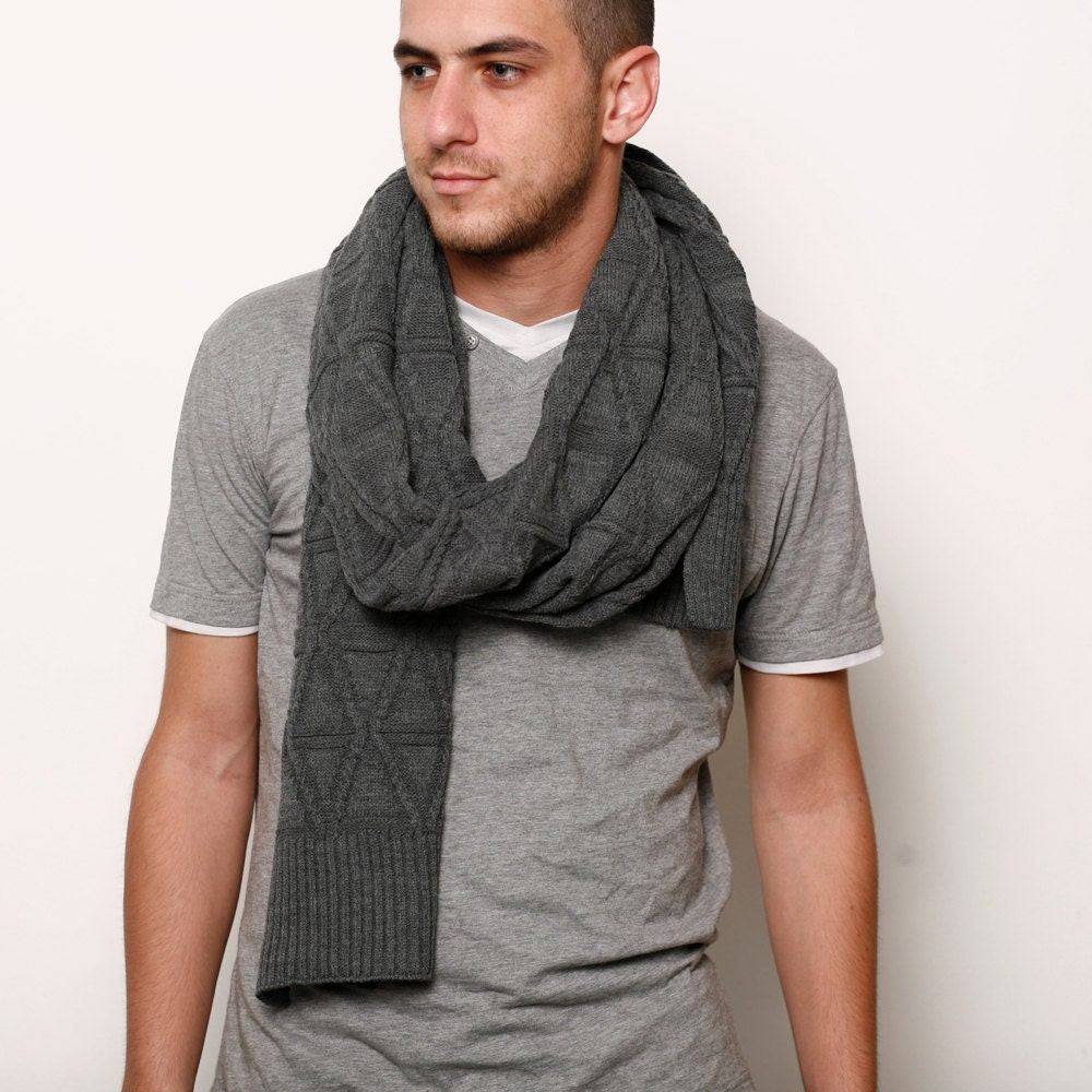 The Tie Bar has a large selection of men's wool scarves at a great value.