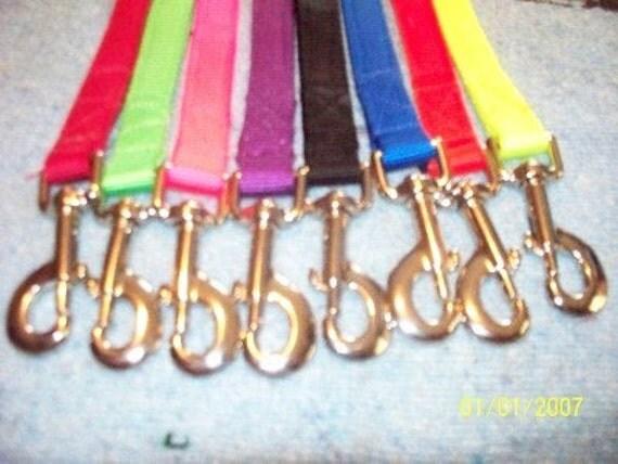 "1"" Webbing Dog Leash and Collar USA Made Heavy Duty"