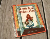 Vintage Little Red Riding Hood Little Golden Book by Elizabeth Orton Jones