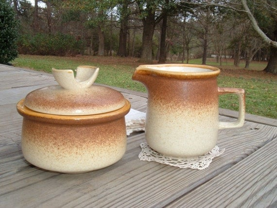 Vintage Mikasa Stylekraft Sugar and Creamer Set from Japan for Farmhouse Kitchen