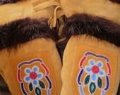 SALE was 175.00 Native American Indian Chopper MITTENS Metis Gauntlets