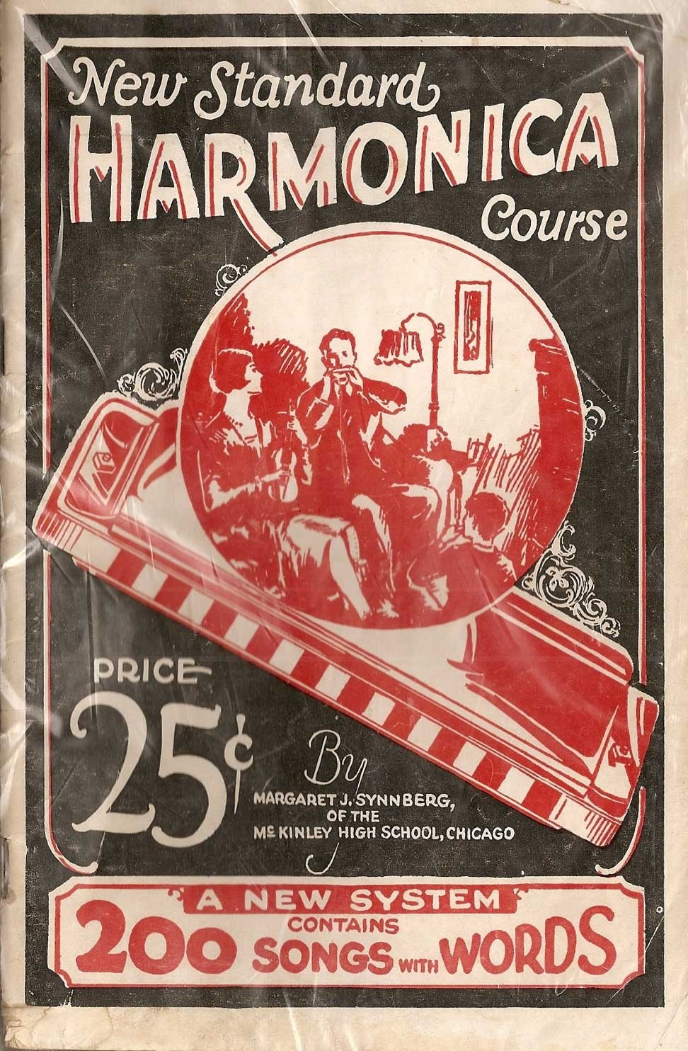 Vintage HARMONICA 2 Songbooks Instructions and The History of