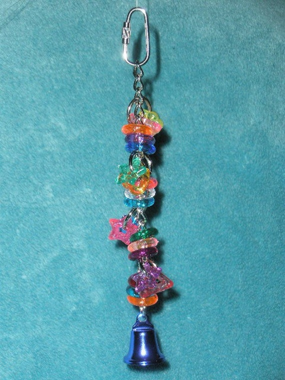 HappyWings Beads and Bell Small Bird Toy