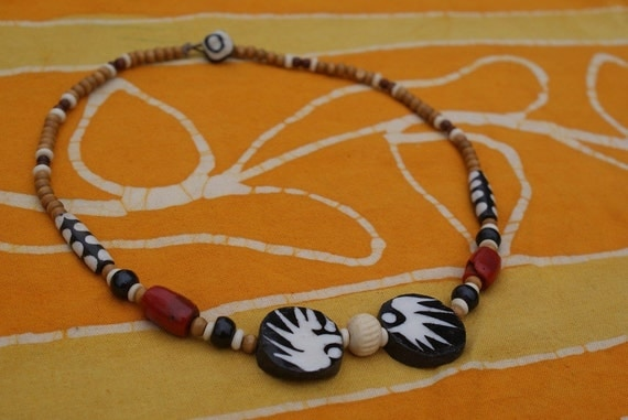African Tribal Beaded Necklace