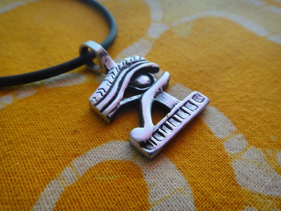 Ancient Egyptian Eye Of Horus Ra Pendant Necklace