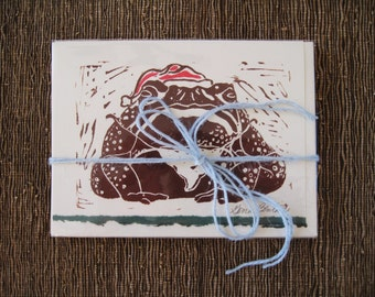 Mistletoad holiday card, 5 pack