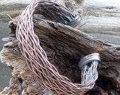 Copper Lightning Rod Unisex Cuff Bracelet