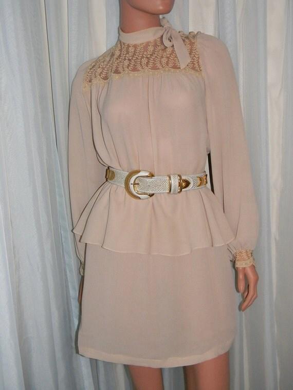 SALE Vintage Romantic Peplum dress