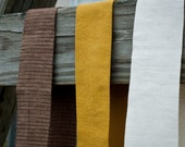 linen belt (blooms sold separately)